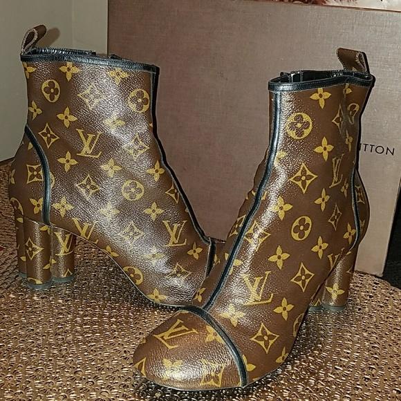 654931d878de Louis Vuitton Shoes - Rare limited edition monogram runway ankle boots